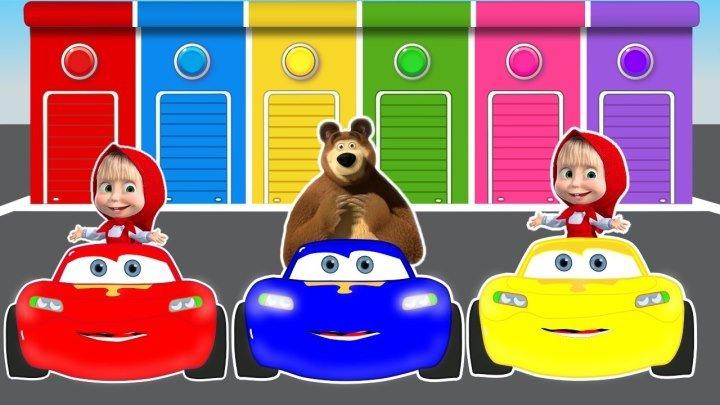 Маша и Медведь новые серии . Учим цвета . Мультики 2017