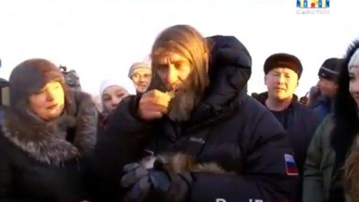 Федор Конюхов после приземления