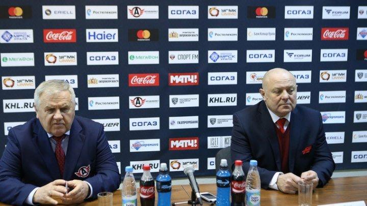 "16 февраля 2017. ""Автомобилист"" - ""Авангард"" 2 - 3 Б. Послематчевая пресс-конференция."