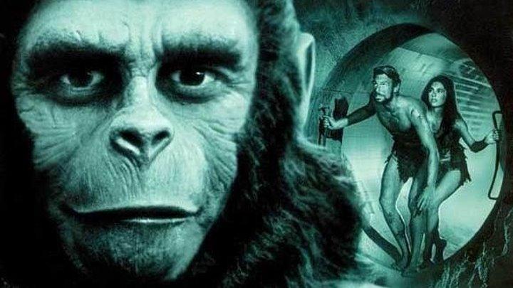 Планета обезьян 2 Под планетой обезьян (1970) Фантастика, боевик, BDRip от HQ-ViDEO (MVO) Джеймс Франсискус, Ким Хантер, Морис Эванс, Линда Хэррисон, Чарлтон Хестон
