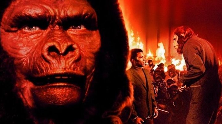 Планета обезьян 4 Покорение планеты обезьян (1972) Фантастика, триллер, боевик, BDRip от HQ-ViDEO (MVO) Родди МакДауэлл, Дон Мюррэй, Рикардо Монтальбан, Натали Транди, Северн Дарден