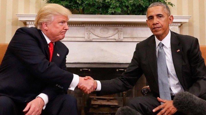 Meduza — Неловкие рукопожатия Трампа, Обамы и Путина
