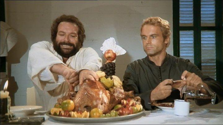 Два миссионера / Подставь другую щеку (Италия 1974) Боевик, Комедия, Приключения