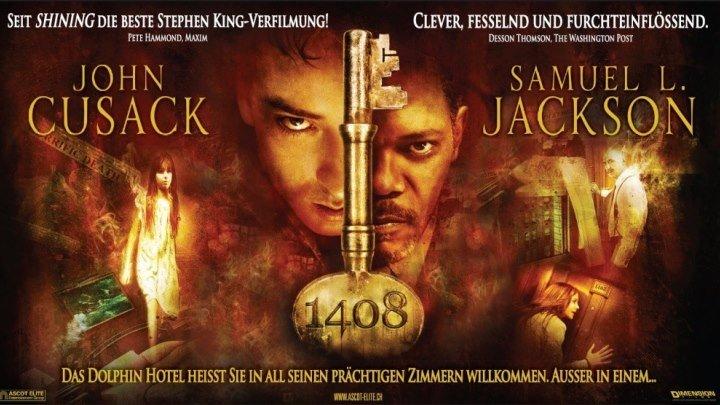1408 (2007) ужасы, триллер BDRip DUB (Режиссерская версия) Джон Кьюсак, Мэри МакКормак, Сэмюэл Л. Джексон, Тони Шэлуб, Пол Бирчард, Марго Лейкестер