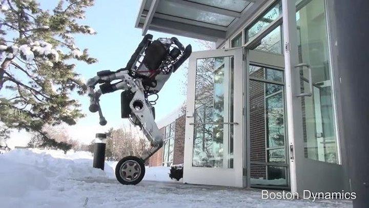В Boston Dynamics научили робота прыгать...