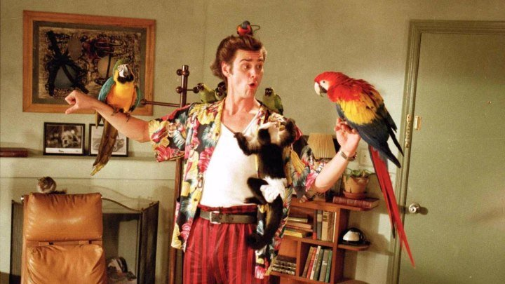 Эйс Вентура: Розыск домашних животных (1993 HD) Комедия, Детектив, Приключения
