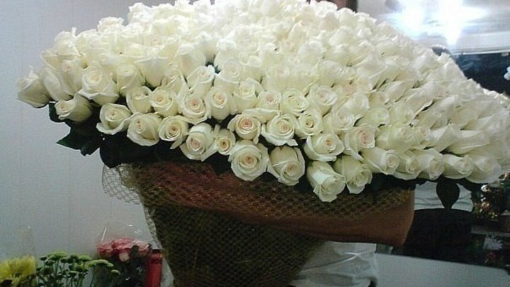 Виктор Королев и Ирина Круг-Букет из белых роз.Монтаж-Валентина Зубкова