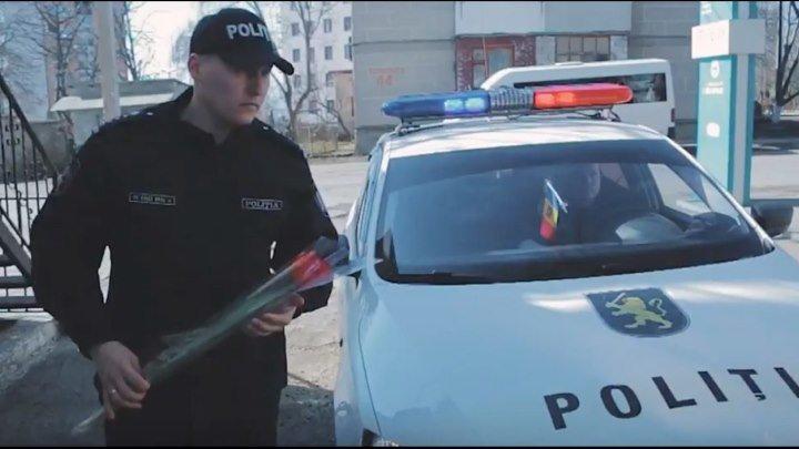 Дорожный патруль поздравил с 8 марта всех Женщин Республики Молдовы ❤️ Felicitarea cu 8 Martie din partea INP