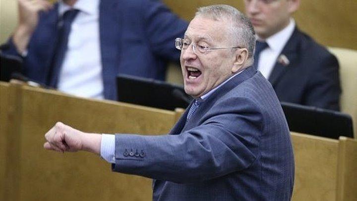 Жириновский: Депутаты защищают мафию и бандитов. Негодяи и подлецы!