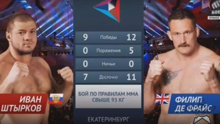 Штырков vs. Де Фрайс