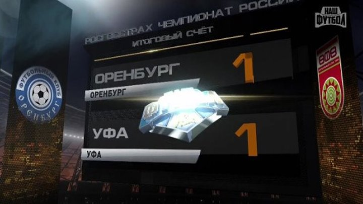 Обзор матча- РФПЛ. 29-й тур. Оренбург - Уфа 1-1