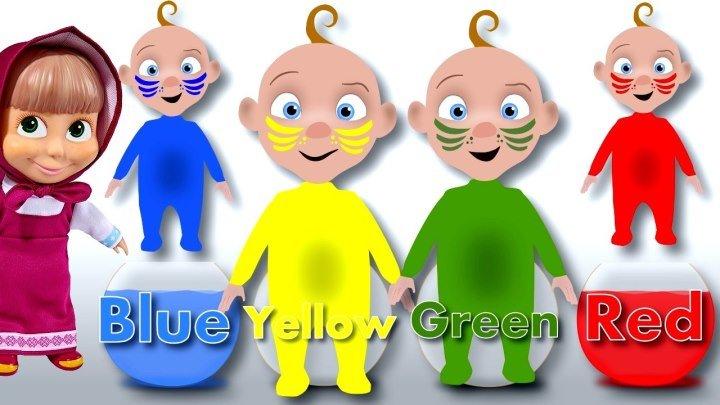 Мультики Маша и Медведь Учим цвета вместе с малышами новые серии.Learn Colors Color Water Wooden Face Toy Bad Baby