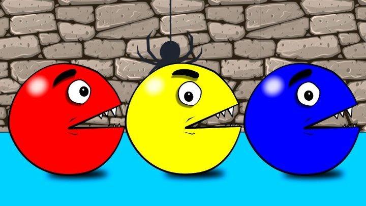 Мультик . Раскраска . Пакман Учим цвета . Learn colors with pacman