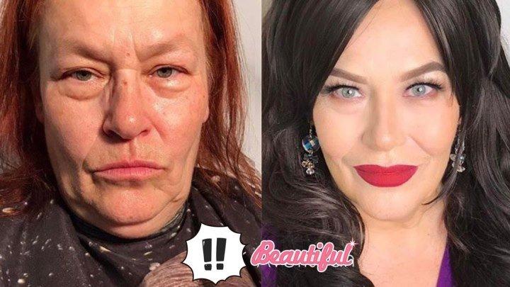 Чудеса макияжа... ДО и ПОСЛЕ... Нереальное перевоплощение