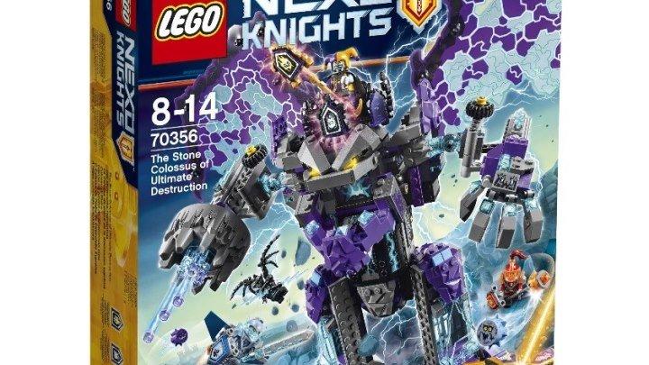 Лего Нексо Найтс 70356 Каменный великан-разрушитель Обзор LEGO Nexo Knights 2017 The Stone Colossus