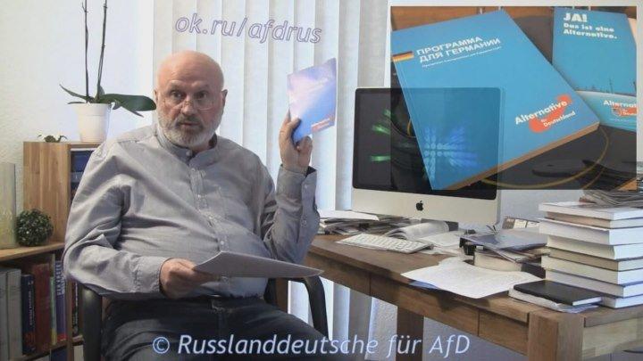 Генрих Дауб (Ost-West Panorama): Почему я буду голосовать за Альтернативу для Германии AfD ч.1