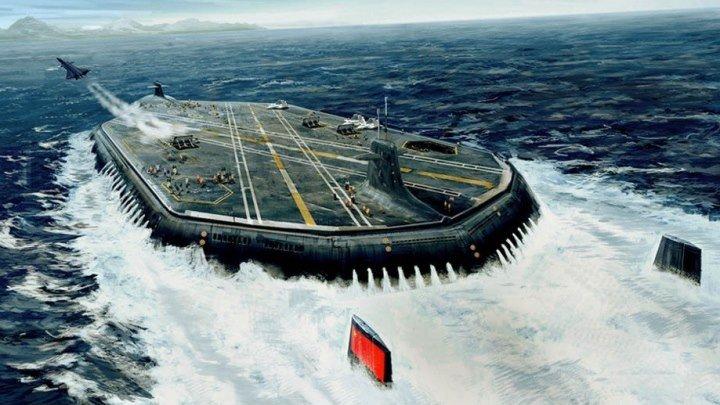 Россия начинает производство атомного подводного авианосца «Акула»...