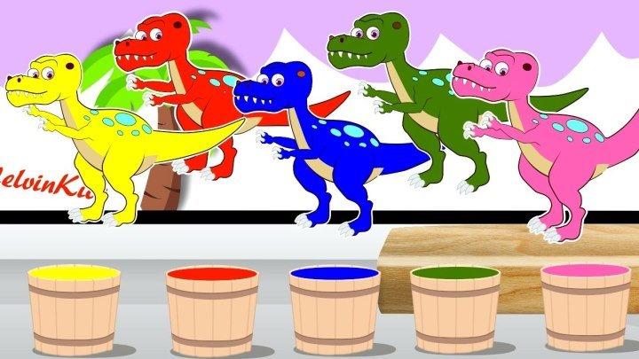 Мультик. Раскраска. Динозавры. Учим цвета. Learn Colors