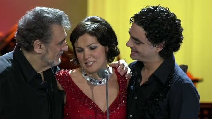 Живой концерт! Три суперзвезды в Берлине: Анна Нетребко, Пласидо Доминго, Роландо Виллазон. 2006
