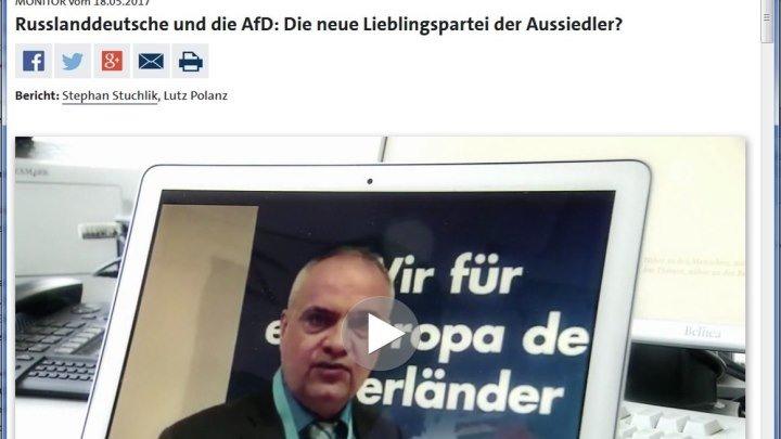 WDR Interview Waldemar Herdt, AfD-Bundestagskandidat