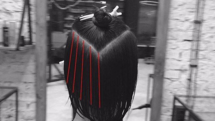 Короткая женская стрижка, градация