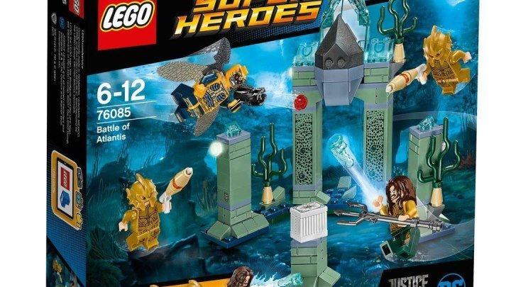 LEGO Justice League 76085 Битва за Атлантиду Обзор Лего Супергерои Лига Справедливости 2017