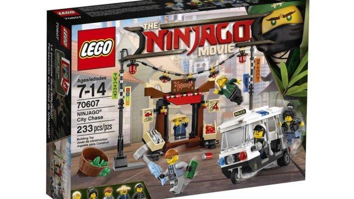 LEGO Ninjago Movie НИНДЗЯГО Сити Ограбление киоска Обзор и сборка конструктора Lego 70607