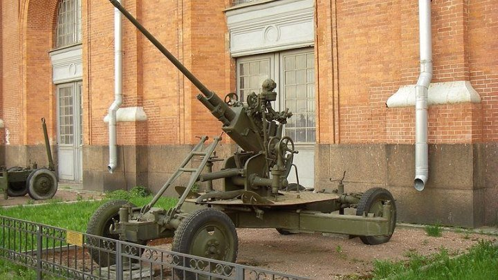 37-мм автоматическая зенитная пушка 61-К образца 1939 года АЗП-39 (СССР)