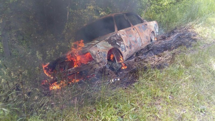 ДТП у Верх-Лысьвы. Сгорел автомобиль