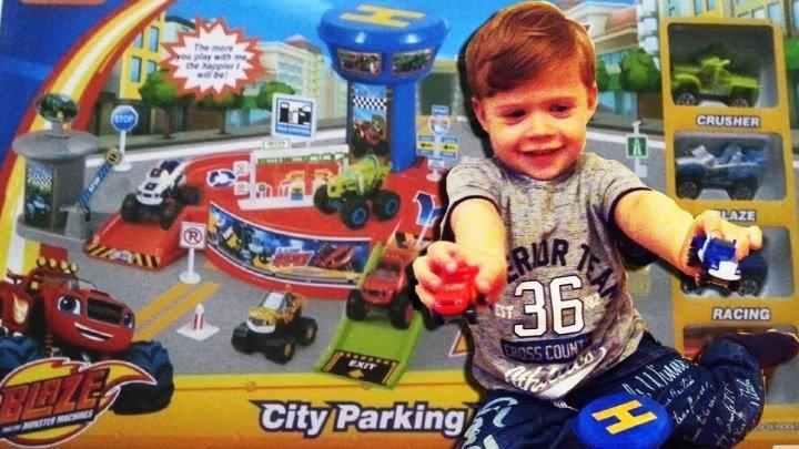 Вспыш и чудо машинки Городская Парковка Распаковка Новая игрушка Sity Parking Lot