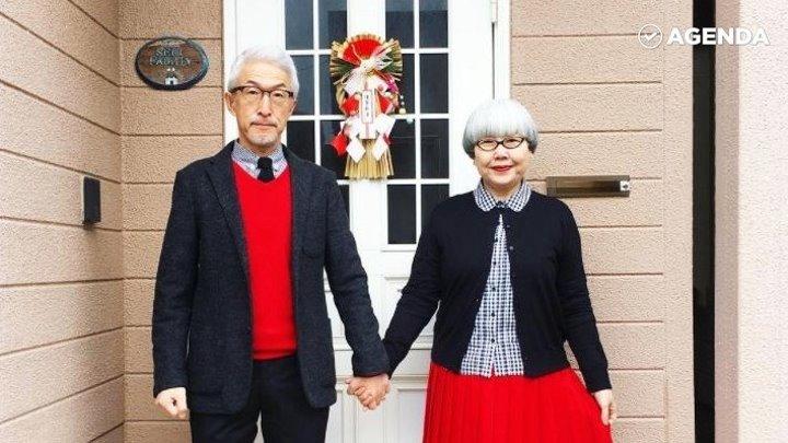 Модная пожилая пара из Японии
