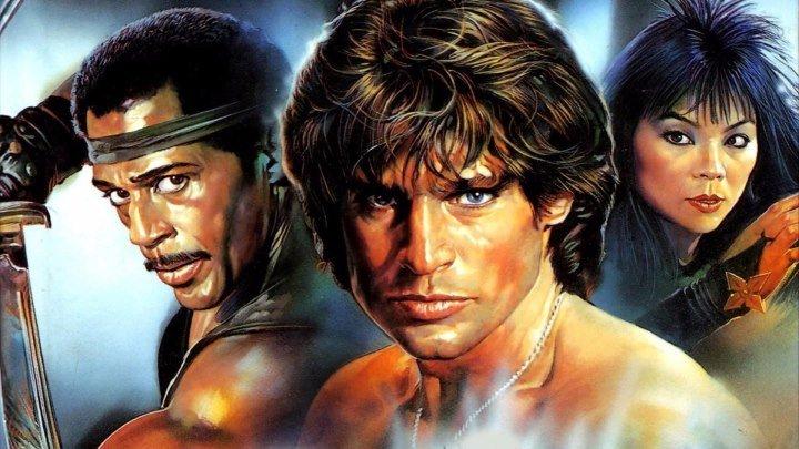 Американский ниндзя 3: Кровавая охота (боевик с восточными единоборствами с Дэвидом Брэдли и Стивом Джеймсом) | США-Канада-ЮАР, 1989