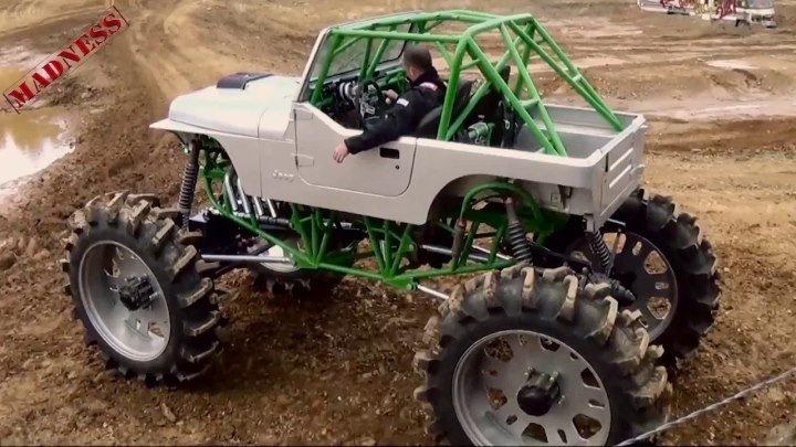 2000 лошадиных сил Jeep 4x4 Off-road MADNESS