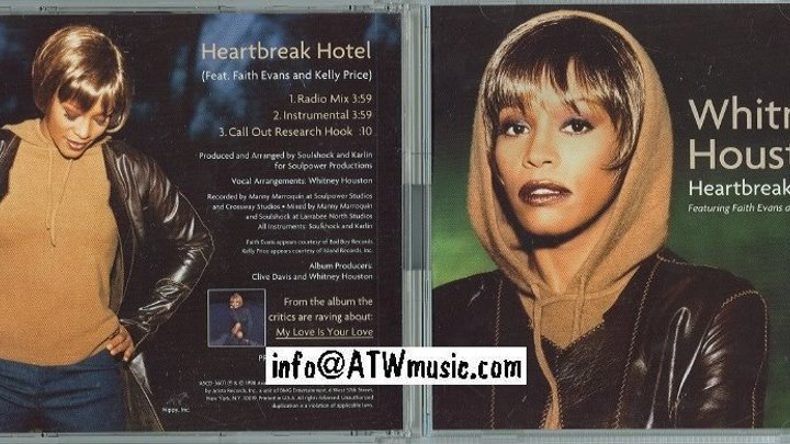 Whitney Houston ft. Faith Evans, Kelly Price - Heartbreak Hotel (клип) 1999