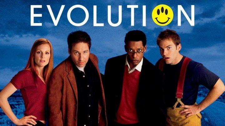 Эволюция (2001) фантастика, комедия (HD-720p) DUB Дэвид Духовны, Джулианна Мур, Орландо Джонс, Шонн Уильям Скотт, Тед Левайн, Этан Сапли