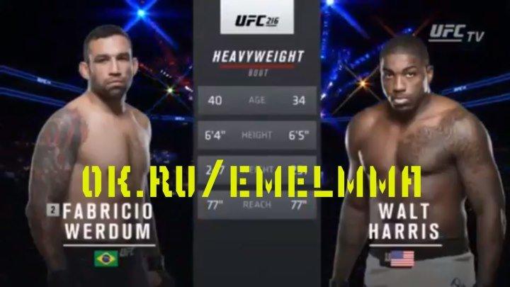 ★ Фабриссио Вердум и Уолт Харрис полный бой UFC 216 ★