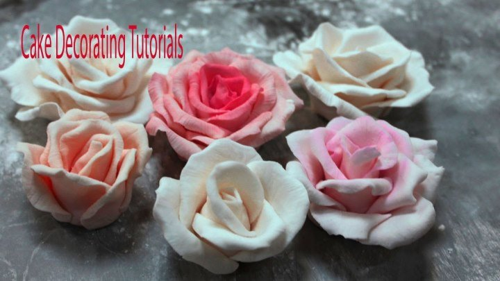 как сделать розы из мастики шаг за шагом видео