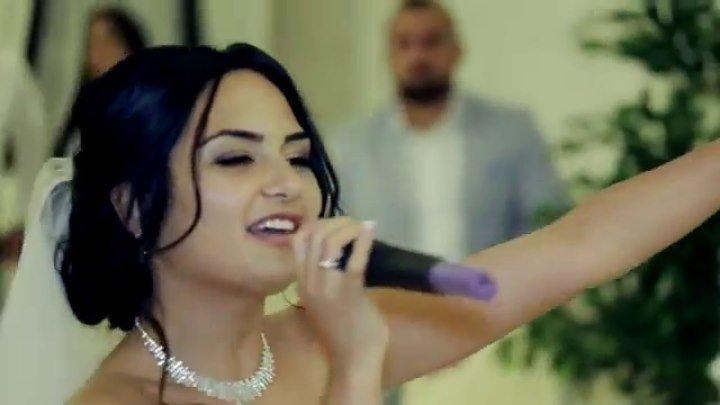 Невеста поет и читает рэп на свадьбе очень красиво!