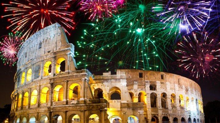 На улицах НОВОГОДНЕГО РИМА!