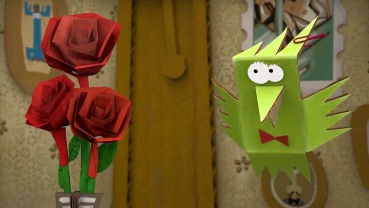 Бумажки ⁄ Розовая клумба ⁄ Серия 19 ⁄ Мультик про оригами для детей