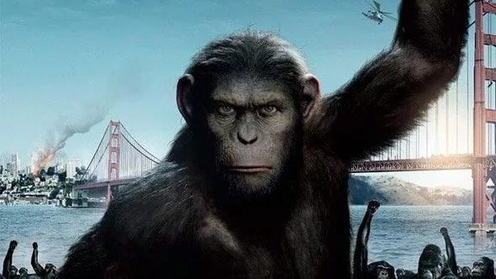 Восстание планеты обезьян HD(Фантастика, Боевик, Приключенческий фильм)2011