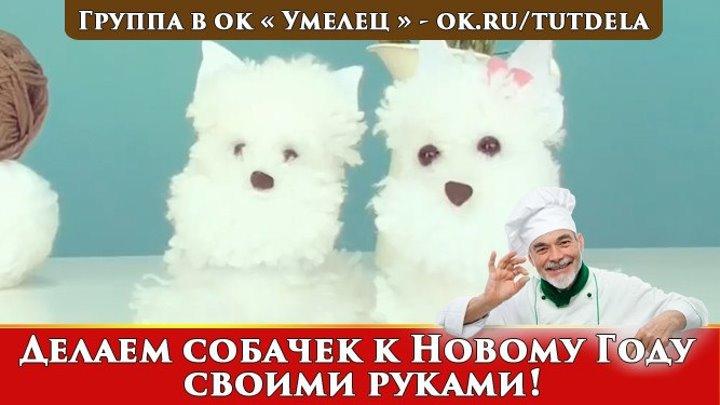 Делаем собачек к Новому году своими руками!