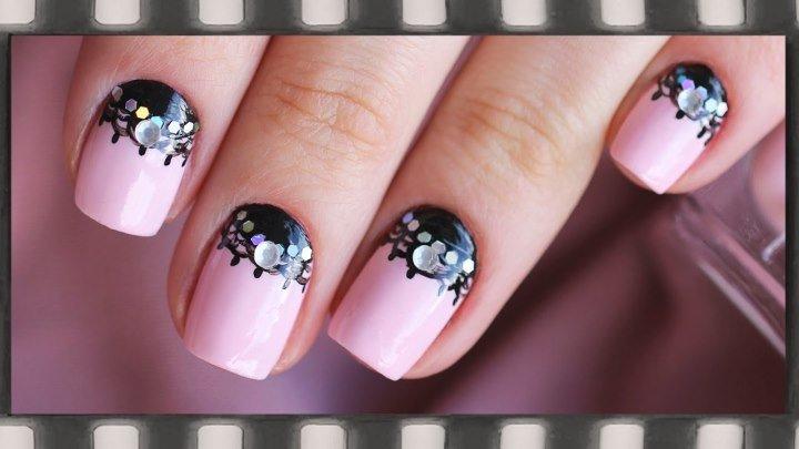 Лунный маникюр на коротких ногтях. Маникюр Кружево!