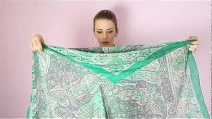 Как завязать шарф (платок) разными способами