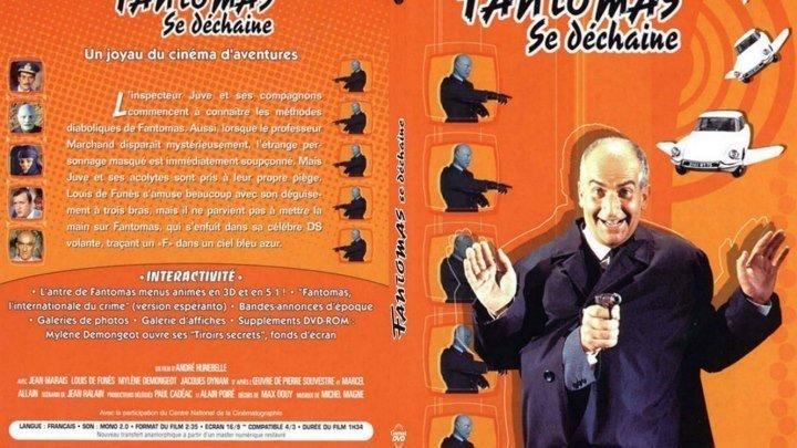 ФАНТОМАС -2 //Разбушевался HD(1965) 1O8Op.Комедия,Криминал,Приключения