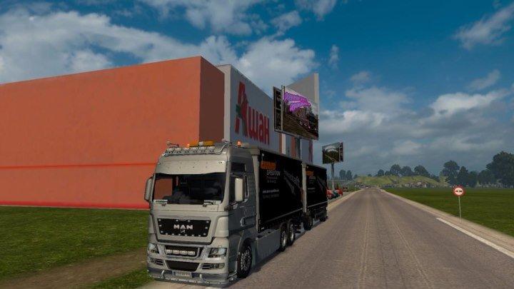 ETS 2 ☆ Тестируем Российские просторы v5.0 и грузовик MAN TGX 2010 v4.8