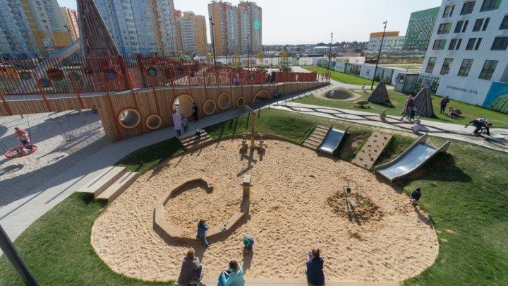 МЕГА-крутая детская детская площадка в Новой Москве