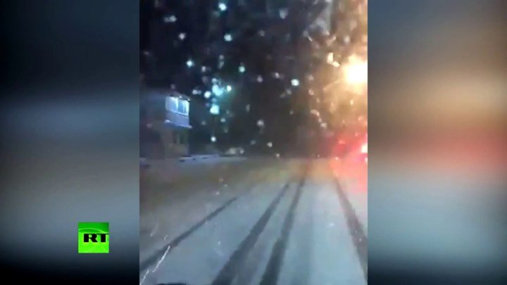 В соцсетях появились видеокадры первого снега в Крыму