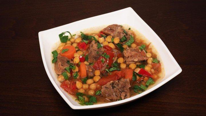 Мясо с нутом и овощами в мультиварке, рецепт мяса. Рецепты для мультиварки. Мультиварка