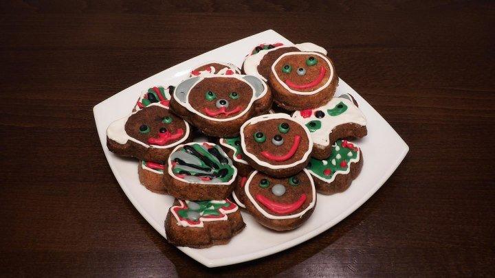 Имбирное печенье на Новый 2018 Год. Простой рецепт вкусного имбирного печенья. Рецепты для мультипекаря. Мультипекарь. Выпечка